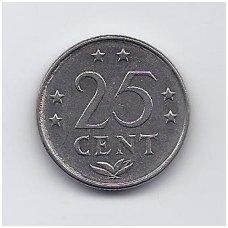 ANTILAI ( NYDERLANDŲ ) 25 CENTS 1977 KM # 11 VF