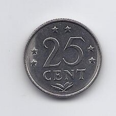 ANTILAI ( NYDERLANDŲ ) 25 CENTS 1979 KM # 11 VF