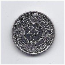 ANTILAI ( NYDERLANDŲ ) 25 CENTS 1990 KM # 35 VF
