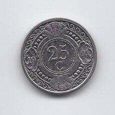 ANTILAI ( NYDERLANDŲ ) 25 CENTS 1991 KM # 35 VF