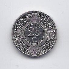 NYDERLANDŲ ANTILAI 25 CENTS 1997 KM # 35 XF