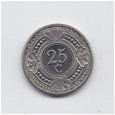 ANTILAI ( NYDERLANDŲ ) 25 CENTS 2007 KM # 35 VF
