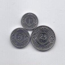 NYDERLANDŲ ANTILAI 2016 m. 3 monetų rinkinukas