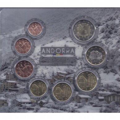 ANDORA 2020 m. oficialus euro monetų rinkinys 2