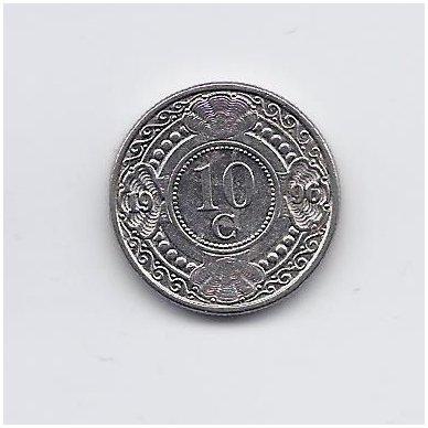 ANTILAI ( NYDERLANDŲ ) 10 CENTS 1996 KM # 34 VF