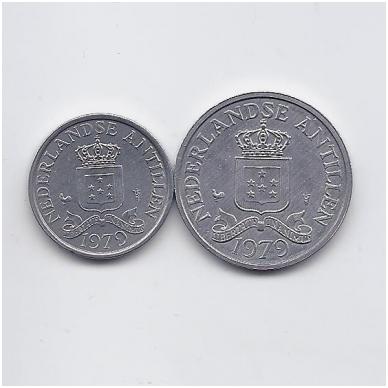 ANTILAI (NYDERLANDŲ) 1979 m. 2 monetų rinkinukas 2