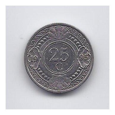 ANTILAI ( NYDERLANDŲ ) 25 CENTS 1995 KM # 35 VF