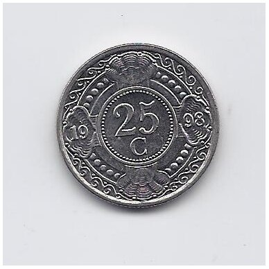 ANTILAI ( NYDERLANDŲ ) 25 CENTS 1998 KM # 35 VF