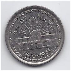 ARGENTINA 1 PESO 1960 KM # 58 VF/XF