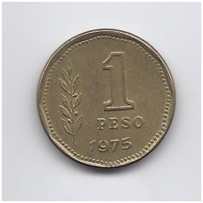 ARGENTINA 1 PESO 1975 KM # 69 VF