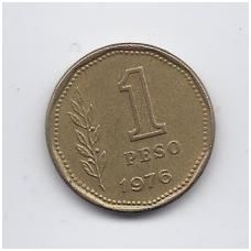 ARGENTINA 1 PESO 1976 KM # 69 VF
