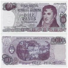 ARGENTINA 10 PESOS 1973 - 1976 P # 295 UNC