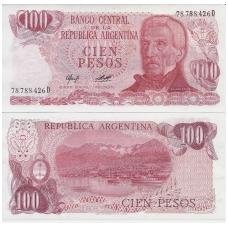 ARGENTINA 100 PESOS 1976 - 1978 P # 302b UNC