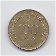 ARGENTINA 100 PESOS 1978 KM # 82 VF
