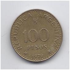 ARGENTINA 100 PESOS 1979 KM # 85 VF
