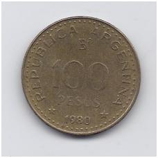 ARGENTINA 100 PESOS 1980 KM # 85a VF