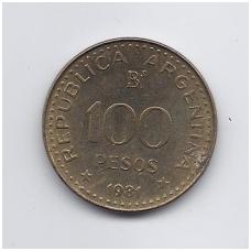 ARGENTINA 100 PESOS 1981 KM # 85a F/VF