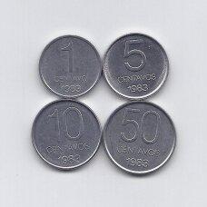 ARGENTINA 1983 m. 4 monetų rinkinys