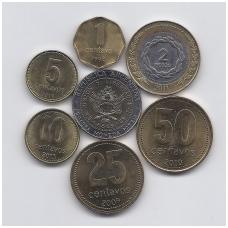 ARGENTINA 1992 - 2011 m. 7 monetų komplektas