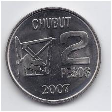 ARGENTINA 2 PESOS 2007 KM # 145 AU