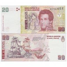 ARGENTINA 20 PESOS 2016 ND P # 355 UNC