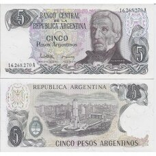 ARGENTINA 5 PESOS 1983-1984 (ND) P # 312 UNC
