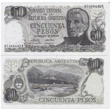 ARGENTINA 50 PESOS 1974 - 1975 P # 296 UNC