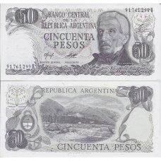 ARGENTINA 50 PESOS 1976 - 1978 P # 301b UNC