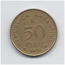 ARGENTINA 50 PESOS 1978 KM # 81 VF