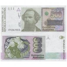 ARGENTINA 500 AUSTRALES 1988 P # 328a UNC