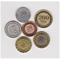 ARMĖNIJA pilnas 6 monetų komplektas 2003 - 2004 m.