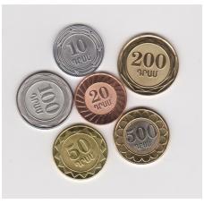 ARMENIA FULL 6 HIGH GRADE COINS SET