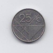 ARUBA 25 CENTS 1997 KM # 3 VF