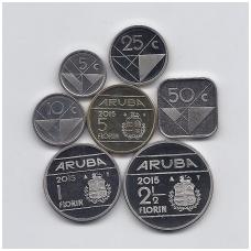 ARUBA 2015 m. 7 monetų rinkinys