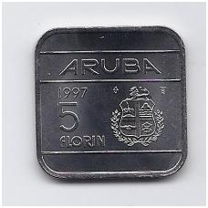ARUBA 5 FLORIN 1997 KM # 12 UNC