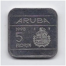 ARUBA 5 FLORIN 1998 KM # 12 UNC