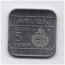 ARUBA 5 FLORIN 2000 KM # 12 UNC