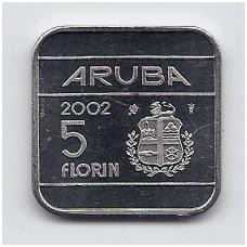 ARUBA 5 FLORIN 2002 KM # 12 UNC