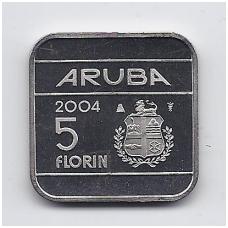 ARUBA 5 FLORIN 2004 KM # 12 UNC