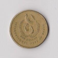 AUSTRALIJA 1 DOLLAR 1986 KM # 87 XF Taikos metai