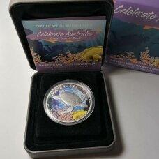 AUSTRALIJA 1 DOLLAR 2011 KM # new PROOF Didysis barjerinis rifas