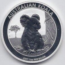 AUSTRALIJA 1 DOLLAR 2017 KM # new PROOF KOALA