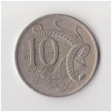 AUSTRALIA 10 CENTS 1974 KM # 65 VF