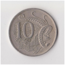 AUSTRALIA 10 CENTS 1984 KM # 65 VF