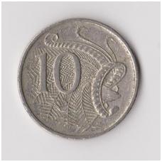 AUSTRALIA 10 CENTS 1989 KM # 81 VF
