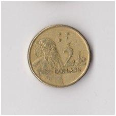 AUSTRALIJA 2 DOLLARS 1989 KM # 101 VF