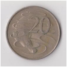 AUSTRALIJA 20 CENTS 1982 KM # 66 VF