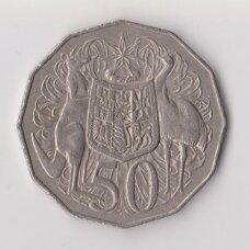 AUSTRALIJA 50 CENTS 1969 KM # 68 VF