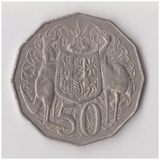 AUSTRALIJA 50 CENTS 1975 KM # 68 VF