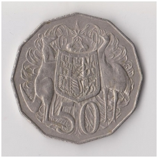 AUSTRALIJA 50 CENTS 1976 KM # 68 VF